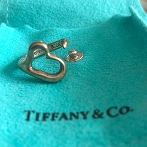 Tiffany & Co .925 sterling silver Open Heart Ring